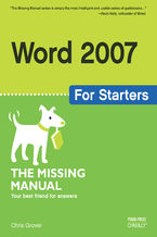 Okładka książki Word 2007 for Starters: The Missing Manual. The Missing Manual