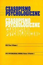 Czasopismo Psychologiczne Psychological Journal Tom 19 numer 1