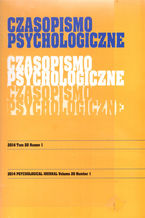 Czasopismo Psychologiczne Psychological Journal Tom 20 numer 1