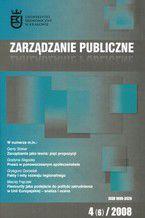 Zarządzanie Publiczne nr 4(6)/2008