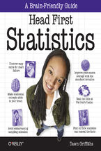 Okładka książki Head First Statistics. A Brain-Friendly Guide