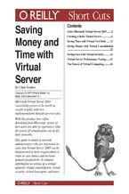 Okładka książki Saving Money and Time with Virtual Server
