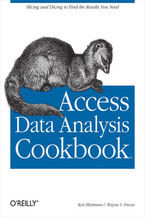 Okładka książki Access Data Analysis Cookbook