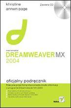 Okładka książki Macromedia Dreamweaver MX 2004. Oficjalny podręcznik