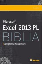 Okładka książki Excel 2013 PL. Biblia