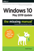 Okładka książki Windows 10 May 2019 Update: The Missing Manual. The Book That Should Have Been in the Box