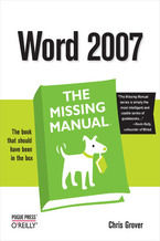 Okładka książki Word 2007: The Missing Manual. The Missing Manual