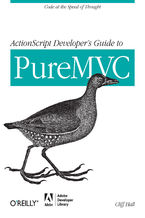 Okładka książki ActionScript Developer's Guide to PureMVC. Code at the Speed of Thought