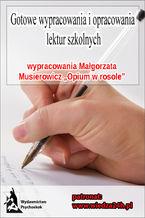 """Wypracowania - Małgorzata Musierowicz """"Opium w rosole"""""""