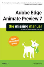 Okładka książki Adobe Edge Animate Preview 7: The Missing Manual