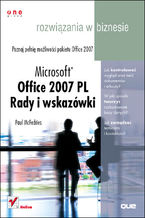 Okładka książki Microsoft Office 2007 PL. Rady i wskazówki. Rozwiązania w biznesie