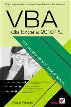 Okładka książki VBA dla Excela 2010 PL. 155 praktycznych przykładów
