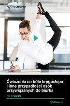 Okładka książki Ćwiczenia na bóle kręgosłupa i inne przypadłości osób przywiązanych do biurka. Kurs wideo
