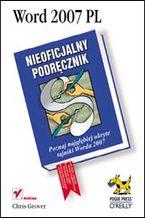 Okładka książki Word 2007 PL. Nieoficjalny podręcznik
