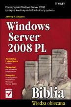 Okładka książki Windows Server 2008 PL. Biblia