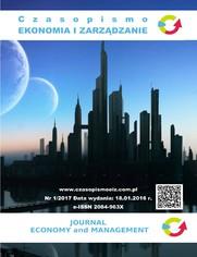 Czasopismo Ekonomia i Zarządzanie nr 1/2017