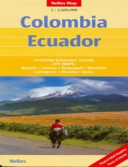 Kolumbia, Ekwador. Mapa
