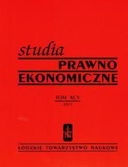 Studia Prwano-Ekonomiczne t. 96