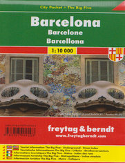 Barcelona. Mapa city pocket Freytag & Berndt / 1:10 000