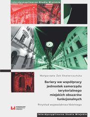Bariery we współpracy jednostek samorządu terytorialnego miejskich obszarów funkcjonalnych. Przykład województwa łódzkiego