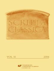 Scripta Classica. Vol. 11