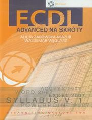 Ok�adka ksi��ki ECDL Advanced na skr�ty + CD