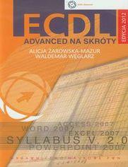 Ok�adka ksi��ki ECDL Advanced na skr�ty z p�yt� CD