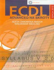 Ok�adka ksi��ki ECDL Advanced na skr�ty z p�yt� CD Edycja 2012