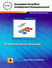 Ok�adka ksi��ki ECUK Przetwarzanie tekst�w