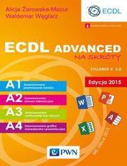 Ok�adka ksi��ki ECDL Advanced na skr�ty Edycja 2015