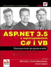 Ok�adka ksi��ki ASP.NET 3.5 z wykorzystaniem C# i VB. Zaawansowane programowanie