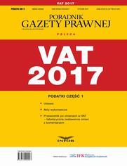 Podatki cz.1 VAT 2017