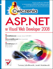 ASP.NET w Visual Web Developer 2008. Ćwiczenia