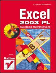 Ok�adka ksi��ki Excel 2003 PL. �wiczenia zaawansowane