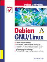 Ok�adka ksi��ki Debian GNU/Linux
