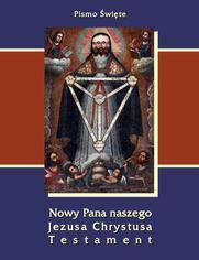 Pismo Święte Nowy Pana naszego Jezusa Chrystusa Testament - brak