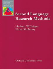 Second Language Research Methods - Oxford Applied Linguistics: - Seliger, H.W.; Shohamy, Elana