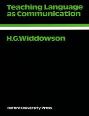 Teaching Language as Communication - Oxford Applied Linguistics - Widdowson, H.G.