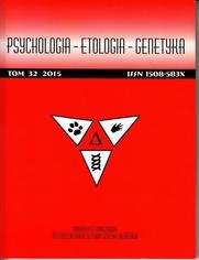 Psychologia-Etologia-Genetyka nr 32/2015