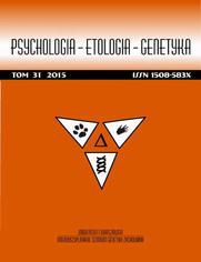Psychologia-Etologia-Genetyka nr 31/2015