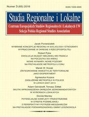 Studia Regionalne i Lokalne nr 3(65)/2016