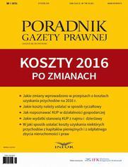 Koszty 2016 po zmianach - Tomasz Krywan