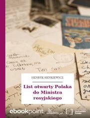 List otwarty Polaka do Ministra rosyjskiego
