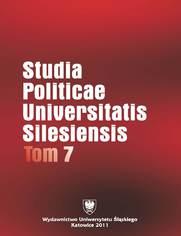 Studia Politicae Universitatis Silesiensis. T. 7