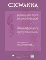 """""""Chowanna"""" 2015. T. 1 (44): Proces rewitalizacji społecznej - perspektywa kulturowo-edukacyjna"""