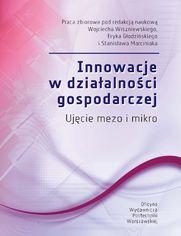 Innowacje w działalności gospodarczej. Ujęcie mezo i mikro