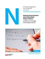 Nozioni di grammatica descrittiva della lingua Italiana. Fonetica e fonologia. Chiavi degli esercizi