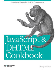 Ebook JavaScript & DHTML Cookbook. Solutions and Example for Web Programmers