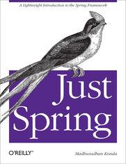 Ok�adka ksi��ki Just Spring