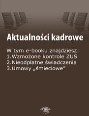 Aktualności kadrowe, wydanie wrzesień 2014 r